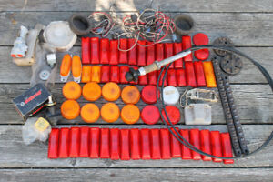 Lot of Truck Marker Lights, and Truck parts