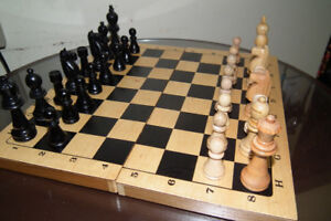 CHESS Set with Large pieces all Wood Hand Made