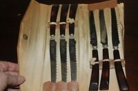 ANTIQUE STEAK KNIVES in CASE