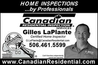Canadian Residential Inspection Services Fredericton