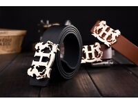 Designer belts men high quality Black Belt for £9.99 Belt Length: 110cm