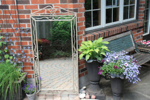 Large Metal Framed Mirrors for Indoors or Outdoors