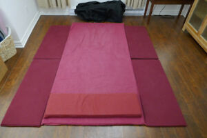 thai yoga mat lotus palm