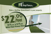 E2 Vinyl - DIY or Installation : White Vinyl Privacy Fence