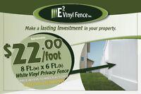 E2 Vinyl - DIY or Installation : White Vinyl Privacy Fence