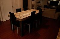 table de cuisine bois grange