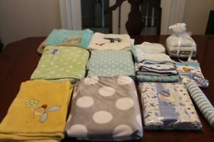 baby and swaddling blankets some new in original wrapping