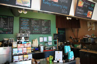 Part-time barista at Keating Coffee