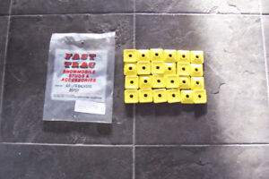 SNOW MOBILE STUD BACKERS YELLOW