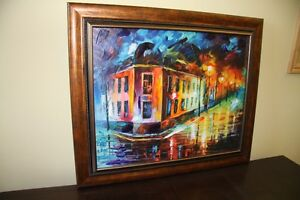 "LEONID AFREMOV ORIGINAL OIL PAINTING TITLED ""THE VIEW FROM THE C"