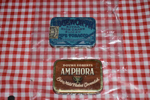 Collectible Antique Pipe Tobacco Tin's - Edgeworth's and Amphora