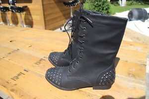 Ladies studded boots