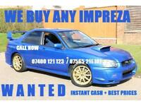 Subaru Impreza WRX STi UK BIGGEST BUYERS OF IMPREZAS...CALL NOW