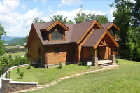 LOG HOME STAINING !!!!!