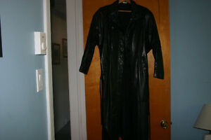Real Leather Long Coat