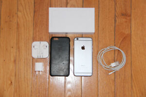 iPhone 6, 64 GB, UNLOCKED, Mint with Black Leather Case