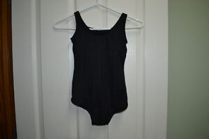 Girls - Black Body Suit - Body Wrappers - Childs size 12-14