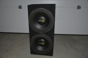 "Two 12"" subs + box and amp"