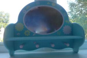 Patère Boîte à bijoux Décoration Chambre turquoise enfant 30$