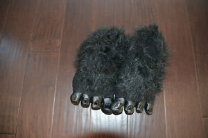 Black Monster Feet Slippers.  Size 1-2