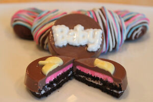 Gender reveal cookies / chocolate covered Oreos