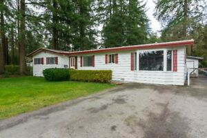 RENOVATED LANGLEY BROOKSWOOD RANCHER W/ SHOP FOR RENT