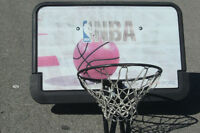 FULL SIZE NBA BASKETBALL NET & BACK BOARD SELLING FOR $35 FIRM!!