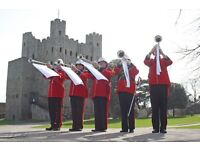 Military Marching Brass Band and Fanfare Trumpeters for Hire - Available UK Wide