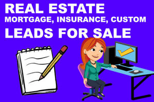 REAL ESTATE, MORTGAGE, INSURANCE, LEADS FOR SALE!!!