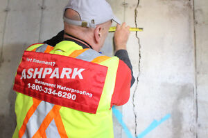 Wet Leaky Basement |1-800-334-6290 | Basement Epoxy Crack Repair Peterborough Peterborough Area image 3
