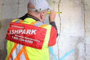 Wet Leaky Basement |1-800-334-6290 | Basement Epoxy Crack Repair Peterborough Peterborough Area image 3