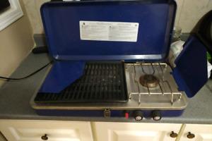 Portable propane camping grill stove