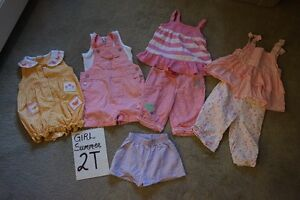 Girls summer clothes size 2T