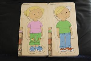 beleduc your body wood puzzle boy and girl London Ontario image 1