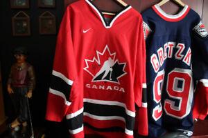 Wayne Gretzky NYR Signed  Jersey & Sidney Crosby Signed Jersey