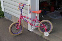 Girls Bike For Sale (with helmet) - In Really Good Shape