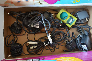 Assortment of chords, chargers, adapters, etc.