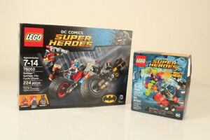 lego 76053 and 76069 Batman Gotham City Cycle Chase Harley Quinn