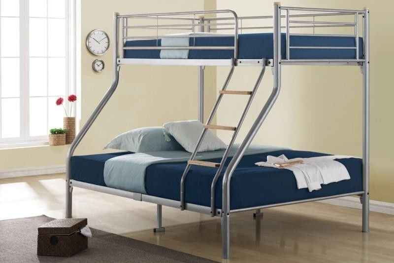 **100% GUARANTEED PRICE!**Paris Triple Metal Bunk Bed-With Mattress Options/Same/Next Day Delivery