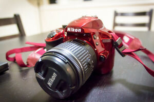 Nikon D3400 Red Kit (w/ 18-55mm,70-300mm, CPL, and ND Var Filter