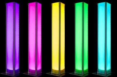 Global Truss Glow Totem 2.0 - 2.0M (6.56Ft) Single Tube Glow Totem Kit W/ Cover