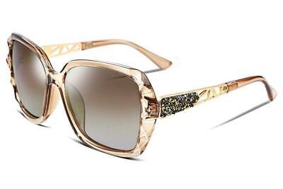 Womens Damen Designer polarisierte Sonnenbrillen Oversized fahren Reisen