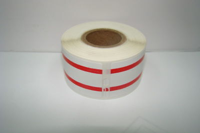 2 Rolls Dymo Labelwriter Compatible Red 30327 File Folder Labels 130 Per Roll