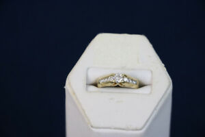 **LAVISH** 14K, Yellow Gold Diamond Engagement Ring - 14456