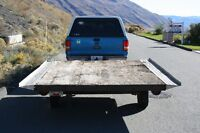 """Snow Mobile Trailer with 14 """" wheels and Tilt Deck"""