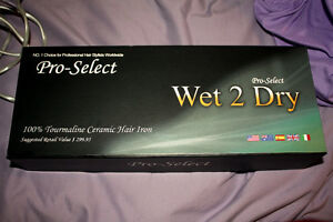 Pro-Select Wet 2 Dry 100% Tourmaline Ceramic HAIR IRON London Ontario image 3