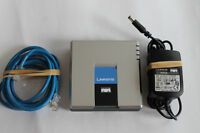 Unlocked Genine Linksys PAP2T-NA VoIP SIP Adapter ATA