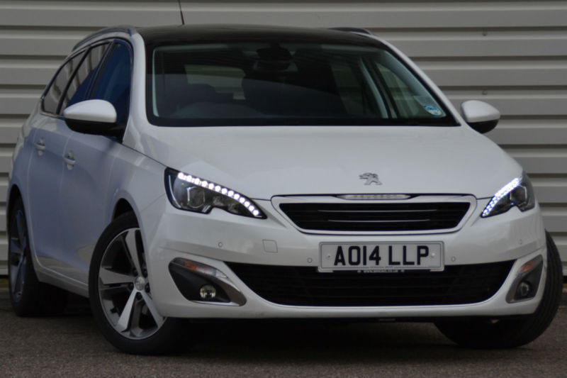 peugeot 308 sw allure 1 6 e hdi diesel manual 5 door estate white 2014 in saxmundham suffolk. Black Bedroom Furniture Sets. Home Design Ideas