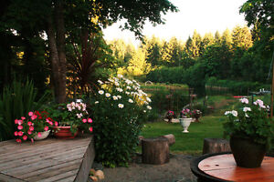 $600.room@Idyllic Yoga Sanctuary near Duncan (monthly or weekly)