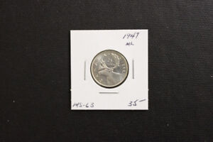 Canada 1947 25 Cent Coin